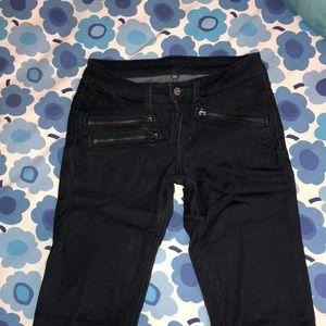 Carmar Dark Blue Skinny Jeans with Zippers